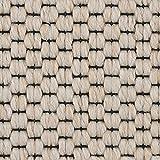 Teppichboden Auslegware | Sisal-Optik Schlinge | 400 und 500 cm Breite | weiß beige | Meterware, verschiedene Größen | Größe: 1,5 x 4 m