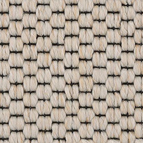 Teppichboden Auslegware | Sisal-Optik Schlinge | 400 und 500 cm Breite | weiß beige | Meterware, verschiedene Größen | Größe: 1 Muster