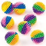 Baker Ross Rainbow Hedgehog Balls (Pack Of 8) For Kids Party Bag Fillers