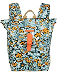 Oilily Camo Flower Backpack Blue Mist