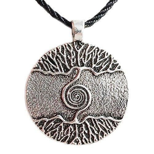 Anhänger / Amulett inkl. Kette, Tree of Life / Weltenbaum / Lebensbaum / nordische Mythen / Sagen / Symbolschmuck