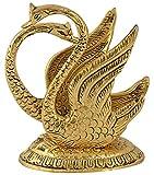 #10: Gaura Art & Crafts Oxidize Metal Decorative Golden Swan Duck Shape Napkin Holder Antique Home Office Tableware handmade Handicrafts showpiece Gifts