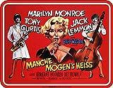 Trendagentur KEPPLINGER Original Rahmenlos - Blechschild für den Cineasten und Marilyn Monroe Fan: Manche mögen´s heiss