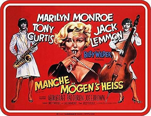 Original RAHMENLOS - Blechschild für den Cineasten und Marilyn Monroe Fan: Manche mögen´s heiss