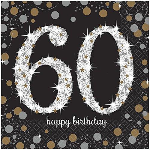 Set di 16tovaglioli VIP 60ème anniversario-33cm 50 - 50 ° Anniversario Set