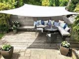 Clara Sun Sail Shade Garden Pure White Waterproof Sun 98% UV Square 3.6m Premium Canopy Awning Patio Outdoor Indoor DIY