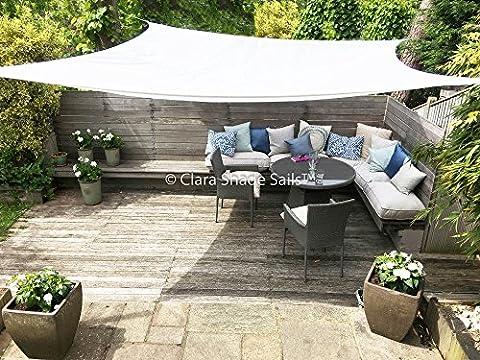 Clara Shade Sail voile d'ombrage toile parasol de jardin canopy imperméable à l'eau 98 % de protection contre les