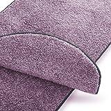 casa pura Teppich Läufer Uni Lila | Qualitätsprodukt aus Deutschland | Gut Siegel | Kombinierbar mit Stufenmatten | 19 Breiten und 18 Längen (66 x 150cm)