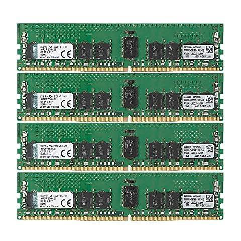 Kingston KVR21R15S4K4/32 RAM 32Go 2133MHz DDR4 ECC Reg CL15 DIMM Kit (4x8Go) 288-pin