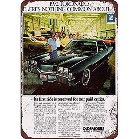 1972Oldsmobile TORONADO Look Vintage Riproduzione in metallo Tin Sign 20,3x 30,5cm