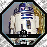 Rewe STAR WARS Cosmic Shells Normal 05 R2-D2 + WIZUALS STICKER