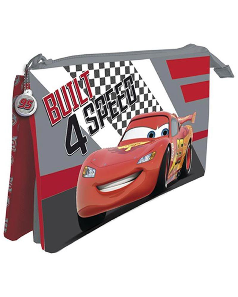 Cars de Disney Estuche portatodo con Tres Compartimentos