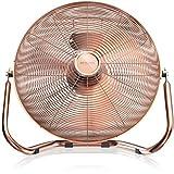 Brandson - Retro Windmaschine/Ventilator im Kupfer-Design (Retro-Stil) | Standventilator 50cm | Leistungsaufnahme 120W | hoher Luftdurchsatz | Bodenventilator