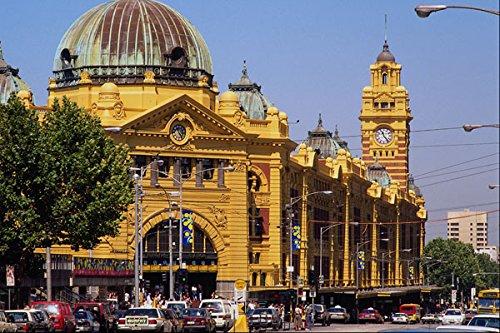 805041 Flinders Street Railway Station Melbourne Australia A4 Photo Poster Print 10x8