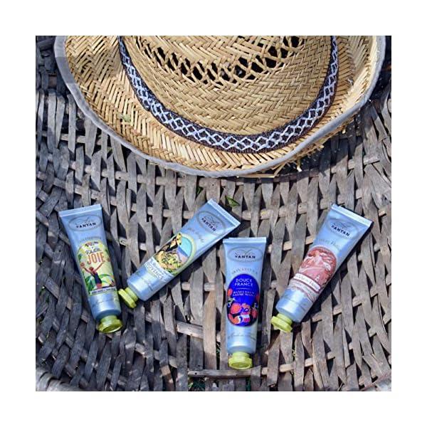 Un Air d'Antan® Pack x5 Crema de Manos Francesa – 5 Perfumes Originales: Verbena, Petalos de Rosa, Lirio de los Valles, Almendras – Formula Hidratante y Reparadora – Idea Regalo, Verano, Set 5x25ml