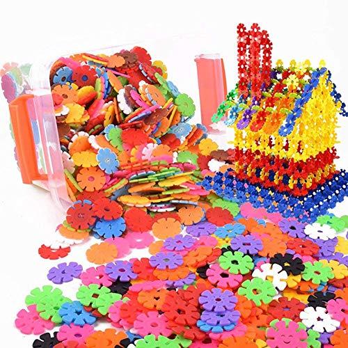 Enfant 500pcs Blocs Briques Jeux de Construction DIY Emboîtement Plastique Disque Ensemble Jigsaw...