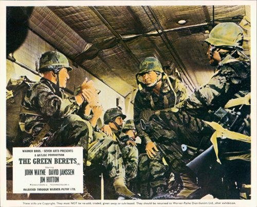 The Green Berets John Wayne Aldo Ray Original Lobby Card - Original Beret