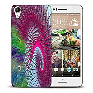 Snoogg Colourful Spins Printed Protective Phone Back Case Cover For HTC Desire 728