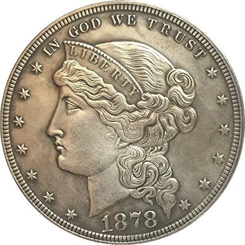Bespoke Souvenirs Rare Antique USA United States 1878 Silver Color Liberty Dollar Coin Seltene Münze
