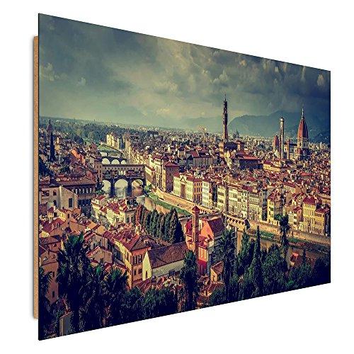 Florenz-panel (Feeby. Wandbilder - 1 Teilig- 78x118 cm - Bilder Kunstdrucke Deko Panel, FLORENZ, ITALIEN, ARCHITEKTUR, BRAUN)