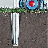 Brabantia Bodenanker aus Metall für Wäschespinne, 50mm