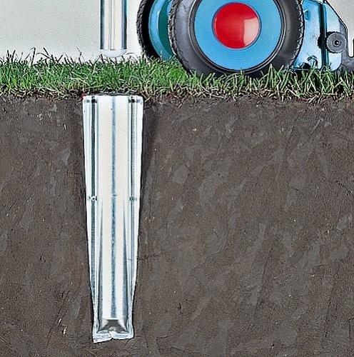 eindreh bodenhuelse Brabantia Bodenanker aus Metall für Wäschespinne, 50mm