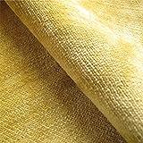 Tabley 'Citrus Plain': Gelber Samt Couch Kissen Polster aus