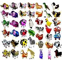 7 PCS / Set animales de paseo Balloon Kids Decoración de la fiesta de cumpleaños Niños Regalos-Mixed Pets Air Walkers
