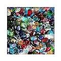1 kg Glasnuggets Glassteine Muggelsteine Mosaiksteine Tischdeko 12 - 20 mm von KiesKönig bei Du und dein Garten