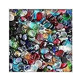 1 kg Glasnuggets Glassteine Muggelsteine Mosaiksteine Tischdeko 12 - 20
