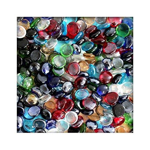1 kg Glasnuggets Glassteine Muggelsteine Mosaiksteine Tischdeko 12 - 20 mm Bunt