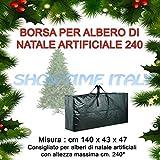 STI Borsa per Albero Natale decorazioni natalizie in PE manici e cerniera 140x43x47