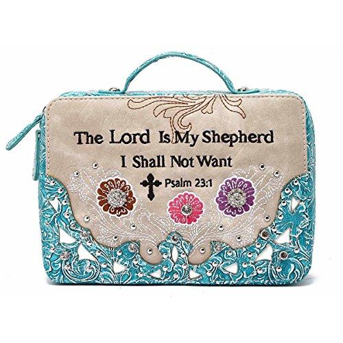 Bibel-Taschen-Tasche Biblische Buch-Abdeckung - Für Bibel Frauen Türkis