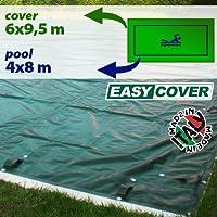 Telo di copertura invernale per piscina 4 x 8 - predisposto per tubolari