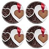 MSD 34399494 ll Coffee Time Concept Dessous de verre en caoutchouc naturel...
