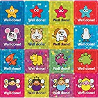 "The Sticker Factory 12 mm Square ""Well Done!"" Mini Sparkly Sticker (Pack of 468 Stickers)"