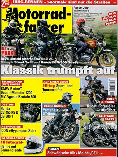 """Motorradfahrer 08/2019 """"Klassik trumpft auf"""""""