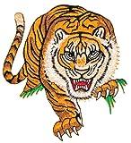 Tiger Aufnäher Bügelbild Patch Applikation Groß