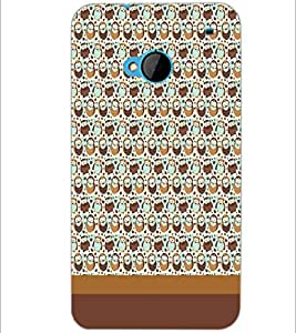 PrintDhaba Owl pattern D-1865 Back Case Cover for HTC ONE M7 (Multi-Coloured)