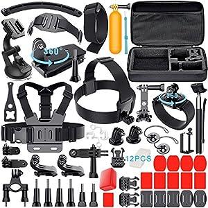 Leknes 52 en 1 Accesorios Kit para GoPro Hero 5 4 3+ 3 2 1 SJCAM SJ4000 SJ5000 SJ6000 Lightdow / Xiaomi Yi / WiMiUS / DBPOWER / Cámara de acción APEMAN / Action Camera Campark