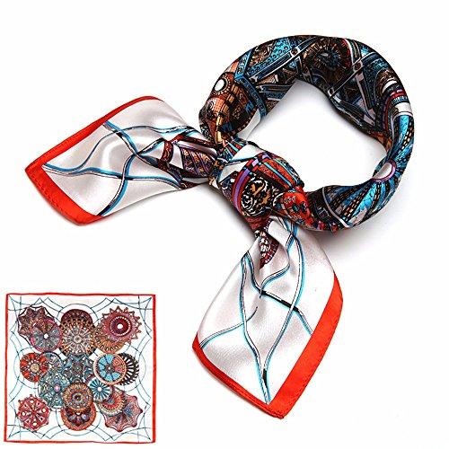 Mode décoratif imprimé foulard/écharpes en soie carrés 50 * 50cm,Q W