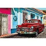 Coche clásico en La Habana Cuba mural XXL póster decoración de la pared by GREAT ART (210 x 140 cm)