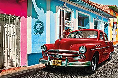 Old-timer in Havana Cuba photo wallpaper by GREAT ART Poster XXL Wall Decoration 210 cm x 140 cm