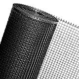 HaGa-Welt - Malla de plástico para cercar (1,2 m de ancho, se vende por metros), color negro