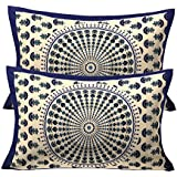 RajasthaniKart 100% Cotton Pillow Cover (Set Of 2) - Multicolor - Blue