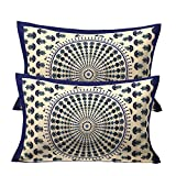 #10: RajasthaniKart Floral 2 Piece Cotton Pillow Covers - 17