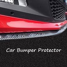 Protector universal de goma y líneas de fibra de carbono de Gogolo, para alerón de parachoques delantero y trasero o faldones laterales, material 100% impermeable, 2,5 m, color blanco