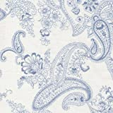 Fat Quarter Pristine Paisley A Gift Wedgewood Baumwolle