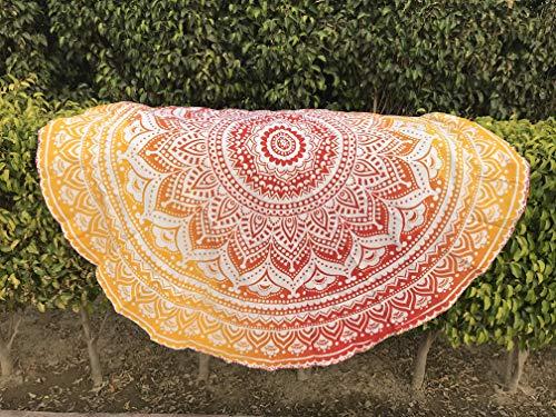 Tela redonda de mandala estilo hippie de Raajsee