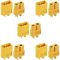 Makerfire 10 Pezzi XT60 Connettori per Battery Toy Vehicle 5 Pezzi Maschio connettori 5 Pezzi Femmina connettori(XT60)